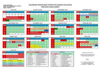 Kalender Pendidikan 2015/2016 Provinsi Jawa Barat