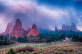 Garden of the Gods Foggy Sunrise (Colorado Springs).