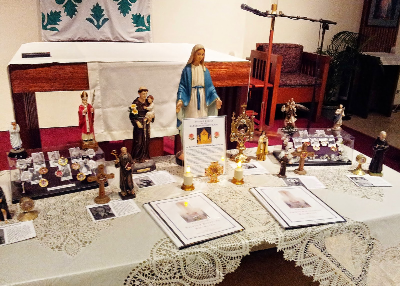 19 sacred relics from various saints blesseds were on display during my 6 12 presentation at st anthony of padua church in kailua
