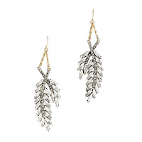 Lulu Frost for J. Crew Crystal Wheat Earrings