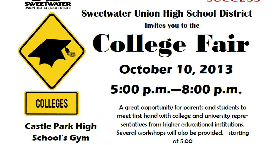 Sweetwater High Counseling Center: SUHSD 2013 College Fair ...