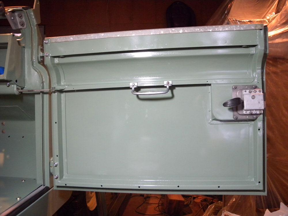1960 Land Rover Restoration Doors Installed Sill Panels