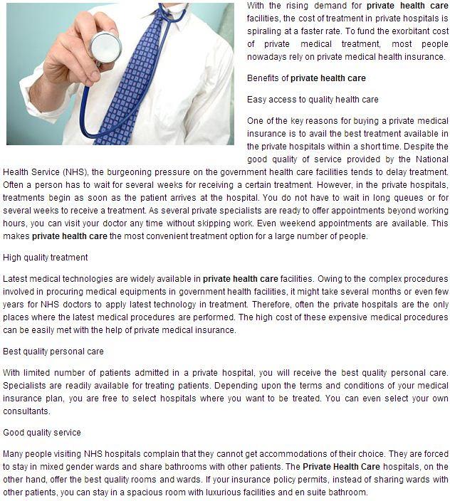 Private HealthCare uK
