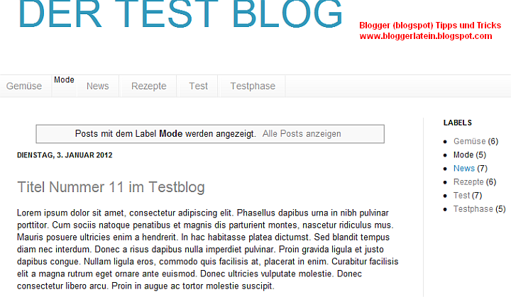 Label - Kategoire - Tag - Blogger Blogspot