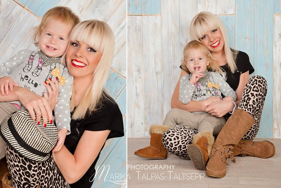 ema ja tütar- fotostuudios