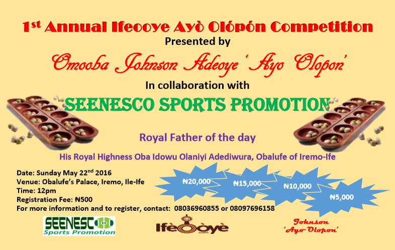 1st annual IfeOoye ayo olopon competition