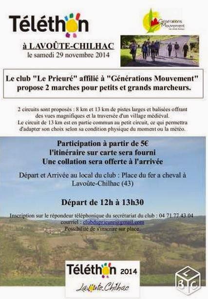 Téléthon 2014: Lavoute-Chilhac