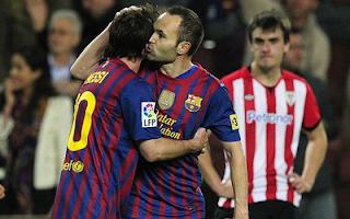 أهداف مباراة برشلونة واتلتيكو بلباو 2-0 في الدوري الاسباني 31-3-2012