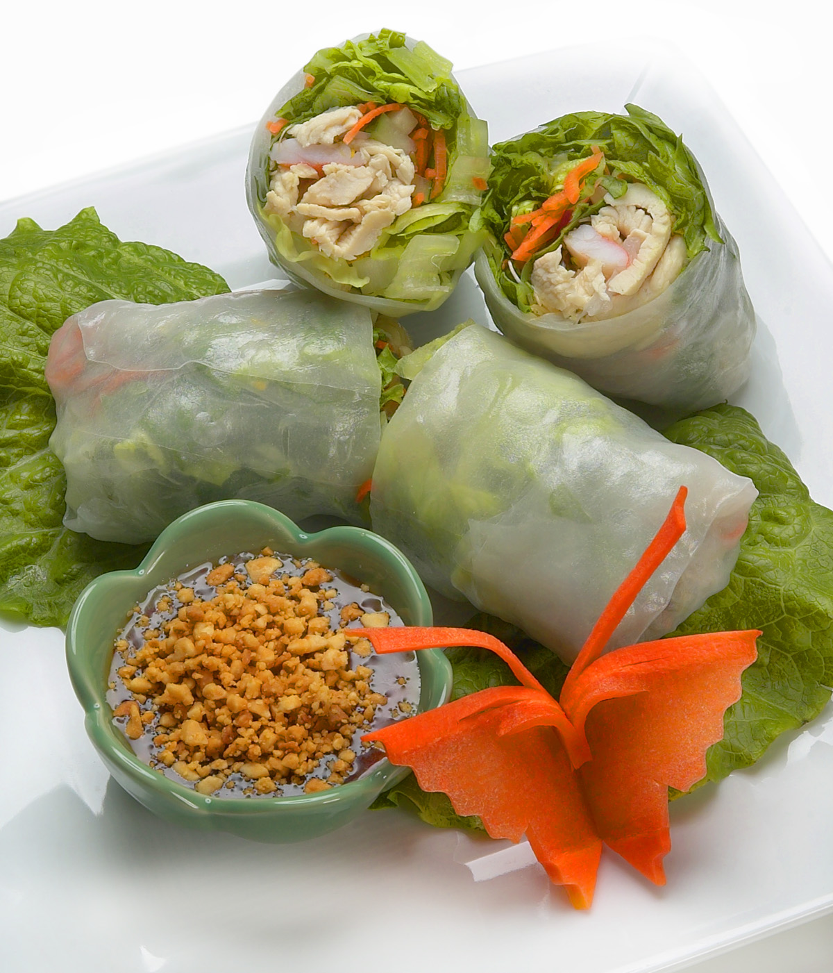 Cucumber and Avocado Summer Rolls with Mustard-Soy Sauce ...