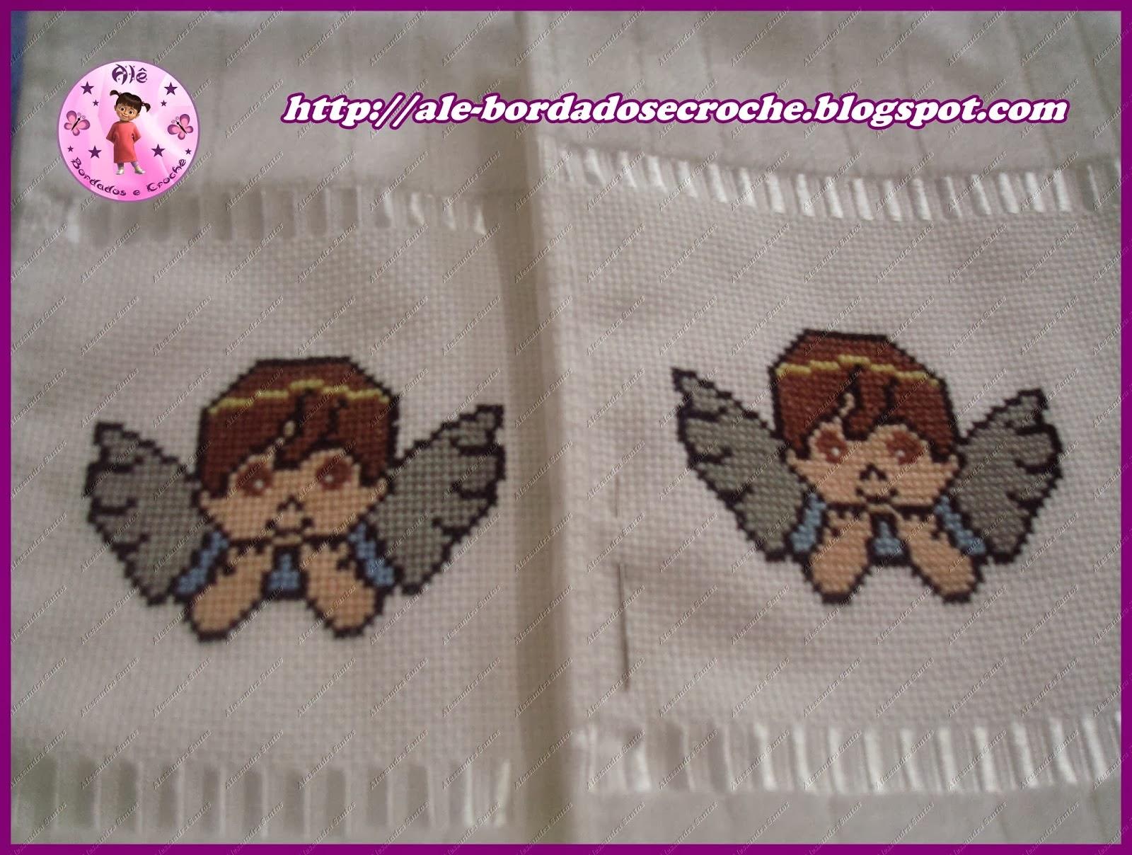 toalha de lavabo anjo