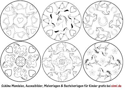 Ausmalbilder Mandala Pferde - Mandalas zum Ausdrucken Mandala Pferde Malvorlagen