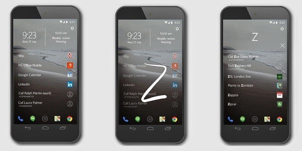 Nokia Z Launcher for Android phone