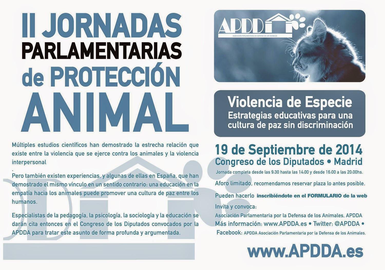 II JORNADAS PARLAMENTARIAS de PROTECCIÓN ANIMAL