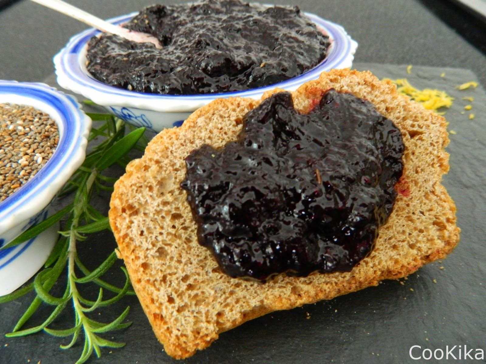 Blueberry jam chia seeds