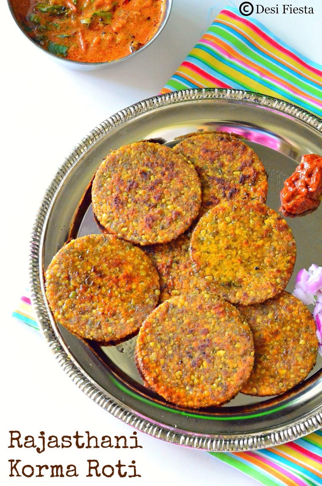 Korma Roti / Green moong dal roti