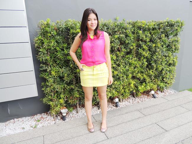 Look da semana pink + yellow!