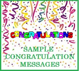 Congratulation Messages and Wishes