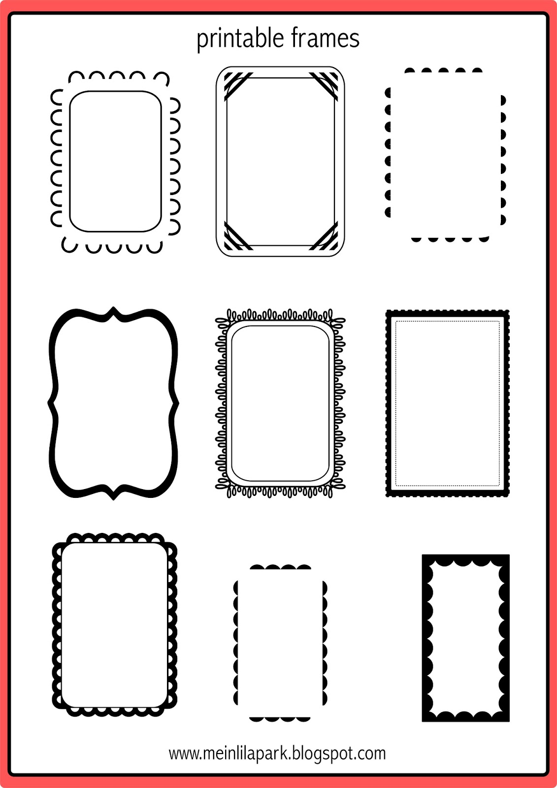 photograph relating to Printable Frames called Totally free printable doodle frames - bullet magazine template