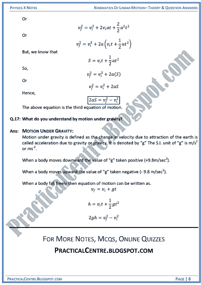 kinematics-of-linear-motion-theory-and-question-answers-physics-x