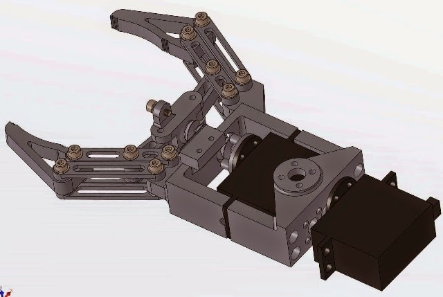 Robotic grippers compatible with arduino they are printed