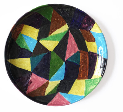colourful mid-century geometric ceramic