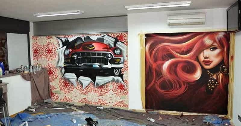 Berok graffiti mural profesional en barcelona decoraci n for Disenos de espejos para peluqueria