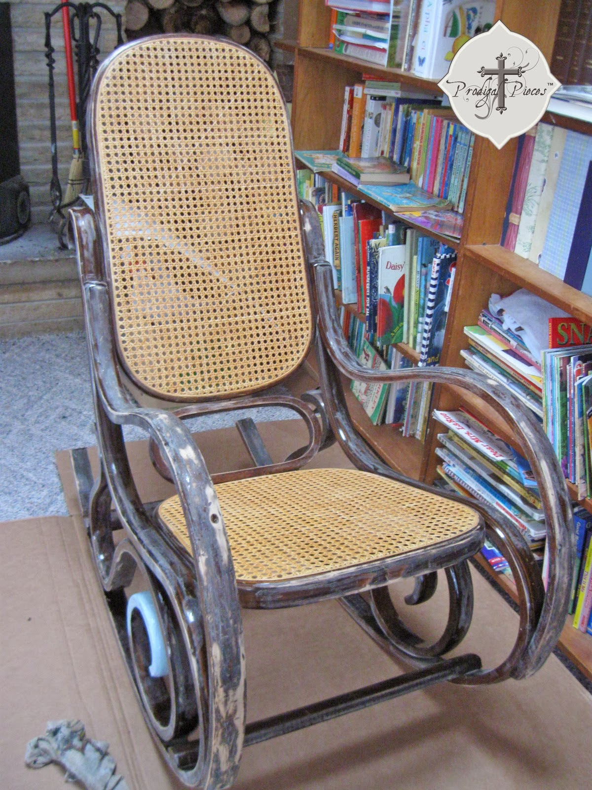 http://www.prodigalpieces.com/2014/02/a-shabby-chic-rocking-chair-with-twist.html
