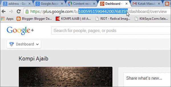 ID Google+ Page