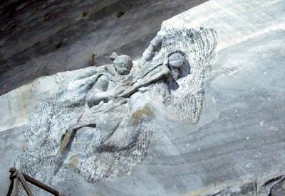 Mihai Viteazul - sculpture in salt, Unirea salt Mine, Slanic Prahova
