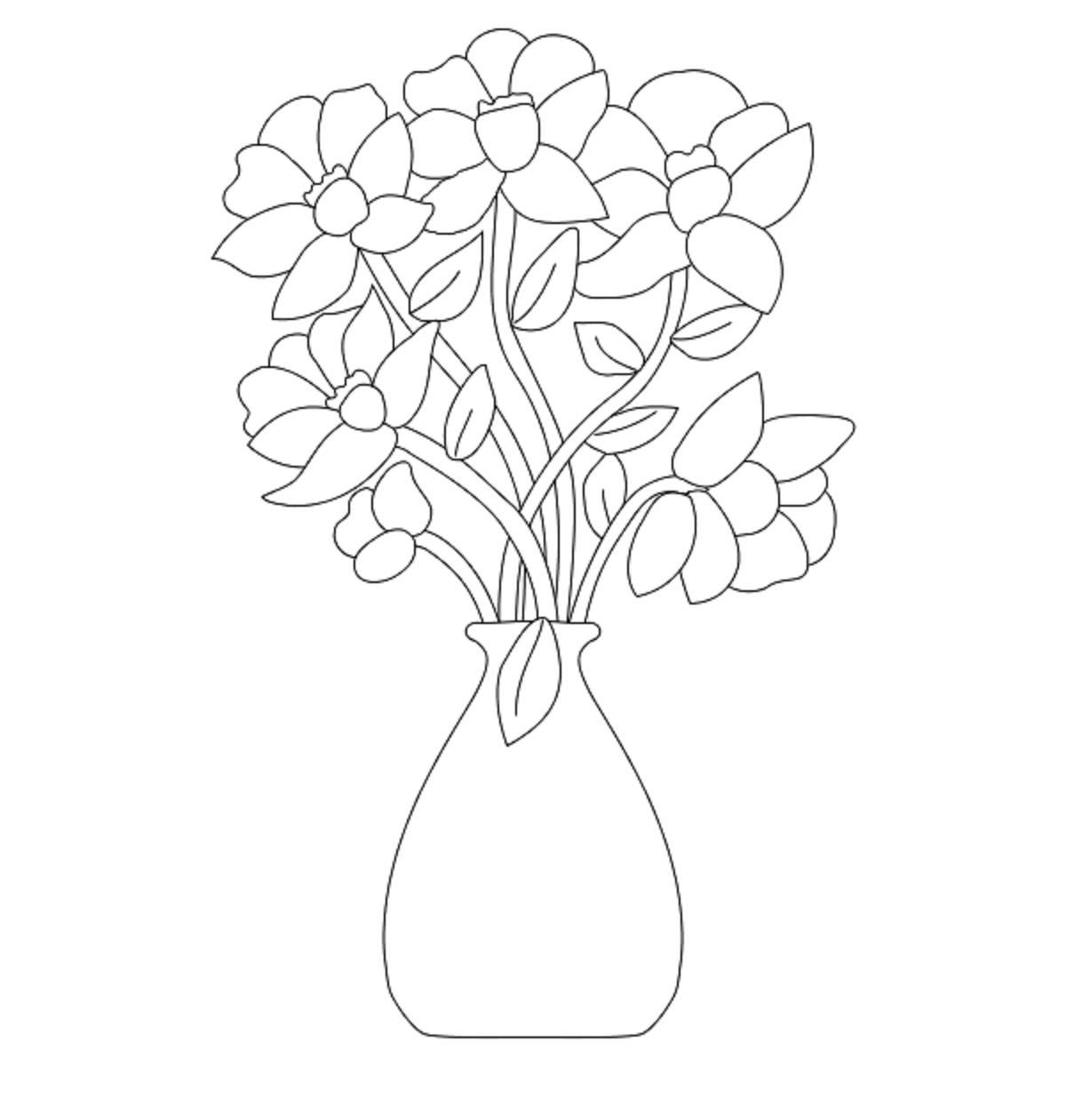 Flower Vases Drawing