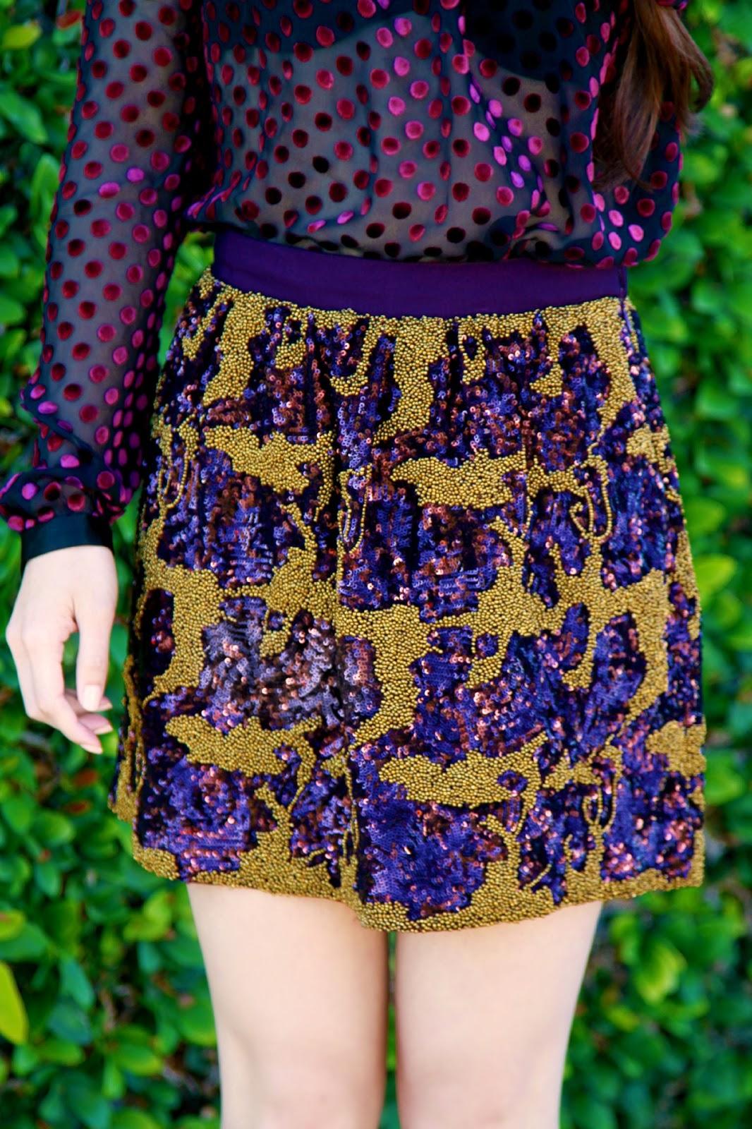 velvet and sequins