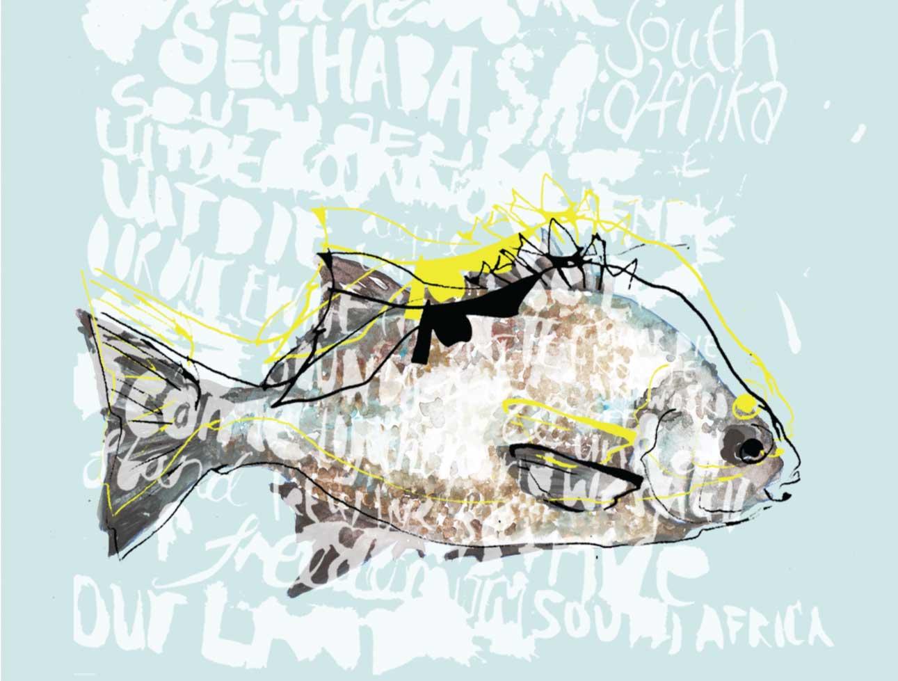 Hirschling south african national symbols stamps for Fish symboled stamp