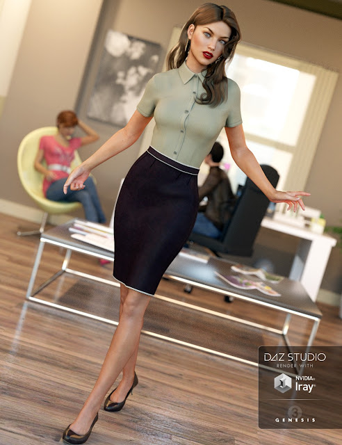 Office Wear for Genesis 3 Female