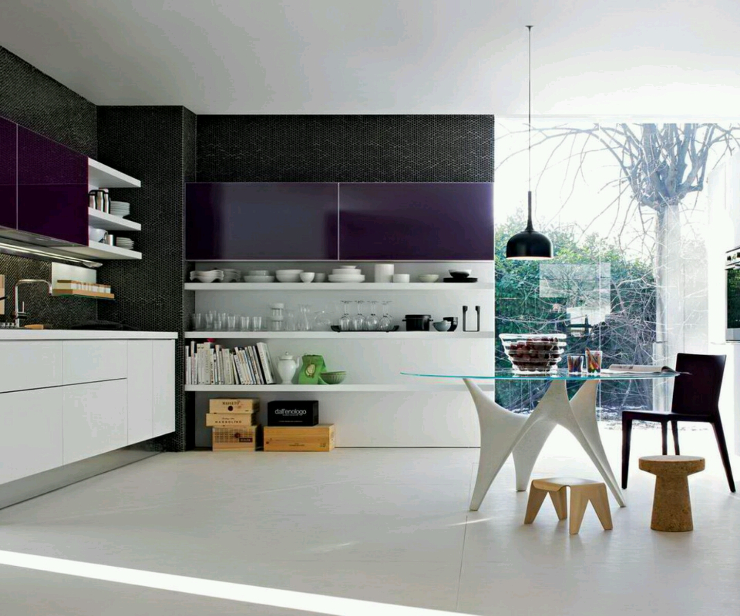 living room: Modern kitchen furniture designs ideas.