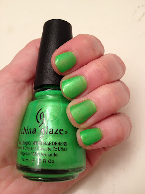 China Glaze, China Glaze Summer Neons 2012 Collection, China Glaze nail polish, China Glaze I'm With The Lifeguard, nail polish, nails, nail, polish, lacquer, nail lacquer