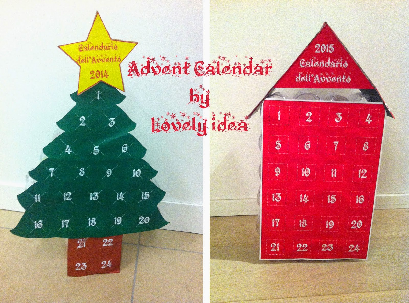 advent calendar diy bottles