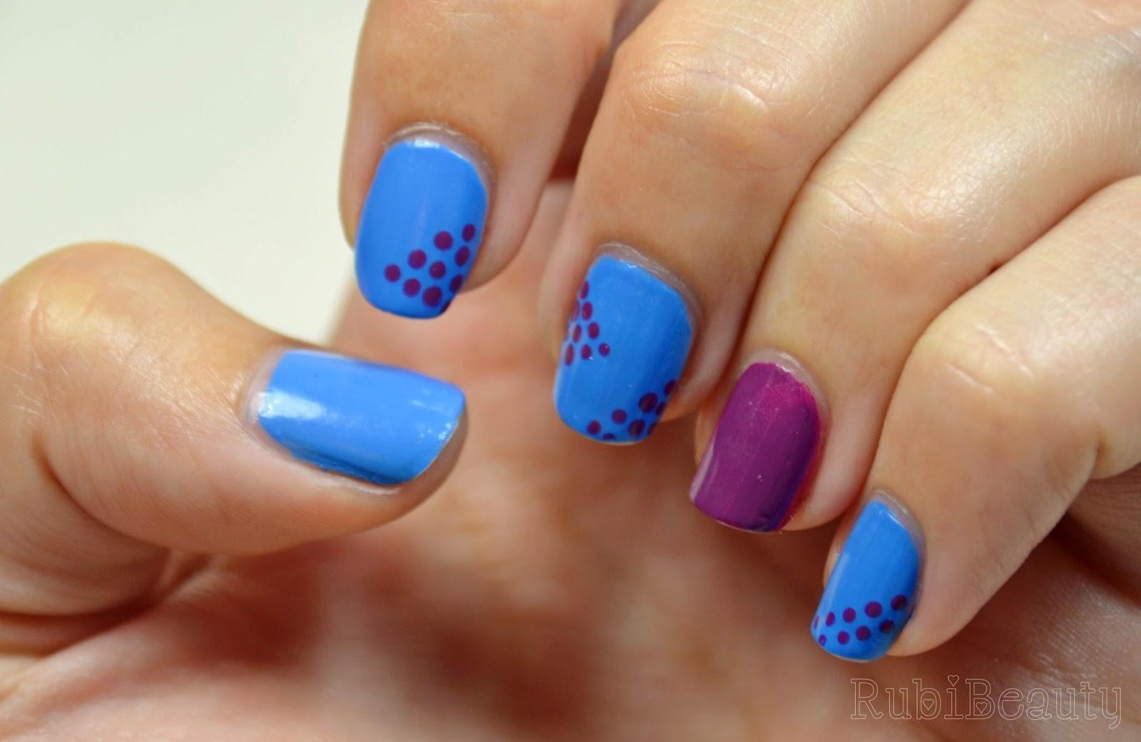rubibeauty manicura diseño uñas faciles sencillos kiko puntos