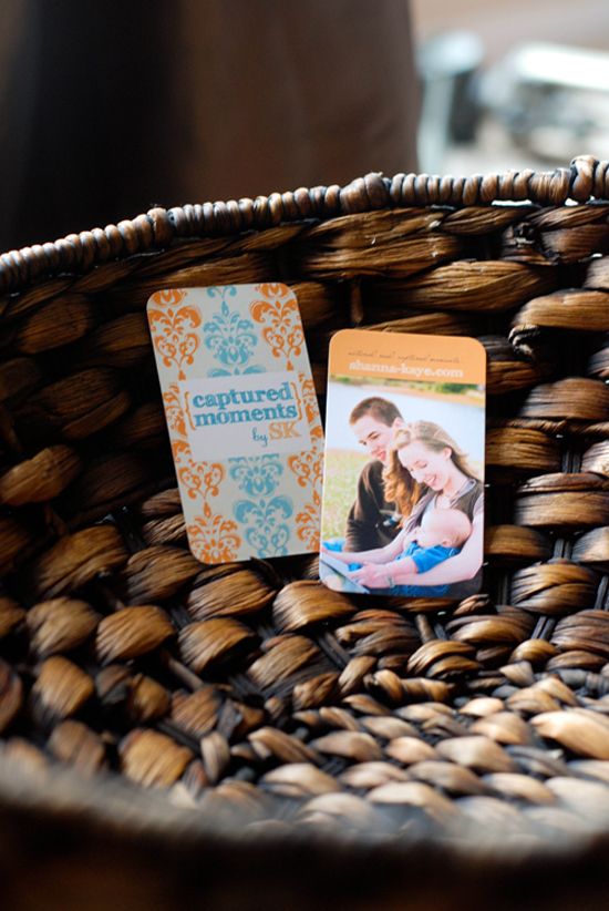 GotPrint business cards display in basket