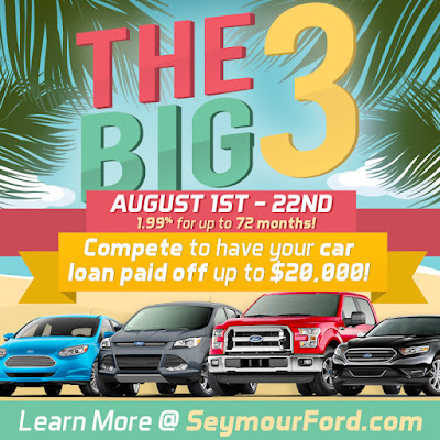 The Big 3 Sale at Seymour Ford Lincoln