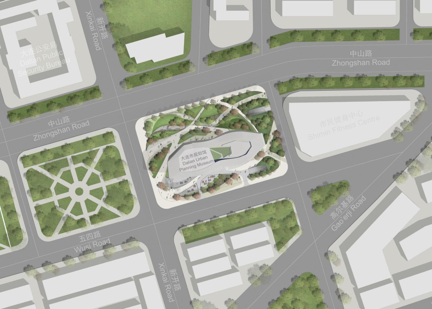 Dalian museum competition design by 10 design for Landscape design competition