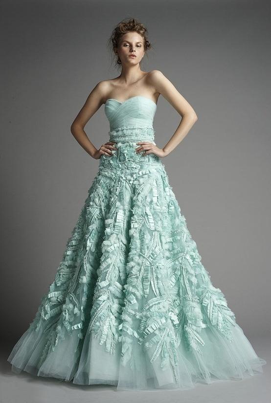 Wedding Dress Color Green : Beautiful aqua wedding dresses tilly tabitha the