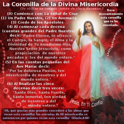 imagen de jesus como orar el rosario a la divina misericordia
