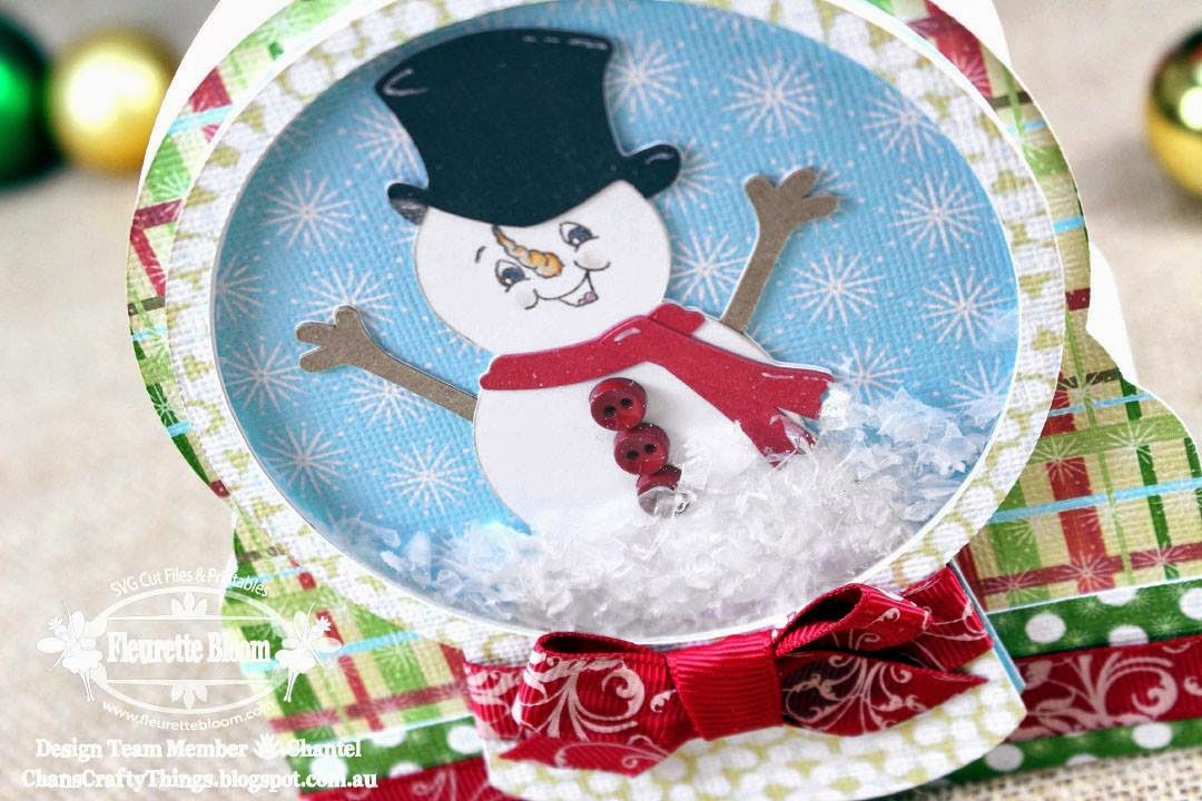 Snow Globe Shaker Card Snow Man