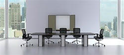 Wood and Glass Verde Conference Table by Cherryman
