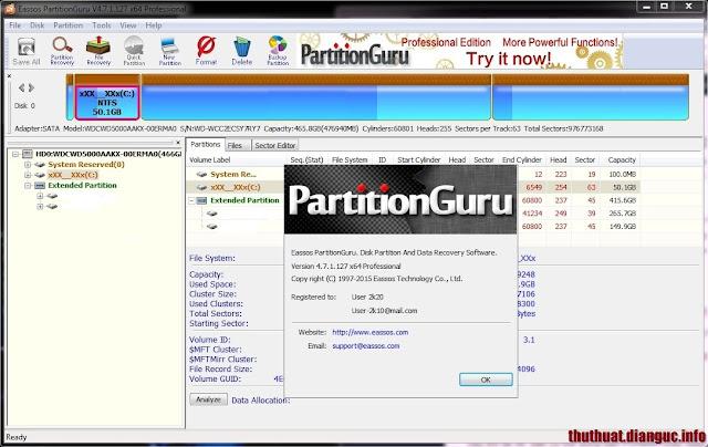 Download Eassos PartitionGuru 4.7.1 Professional Full Serial Key