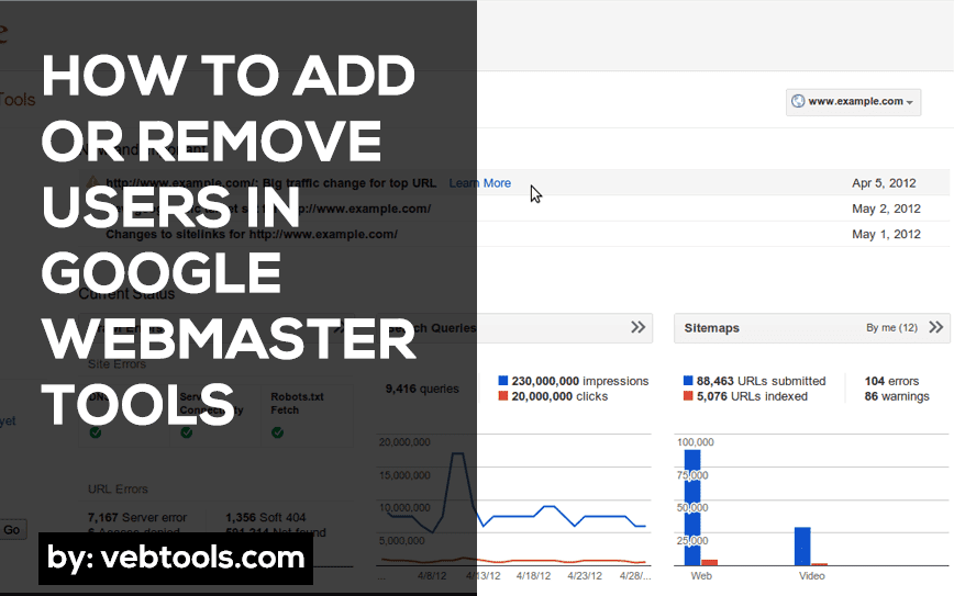 Add or Remove Users in Google Webmaster Tools