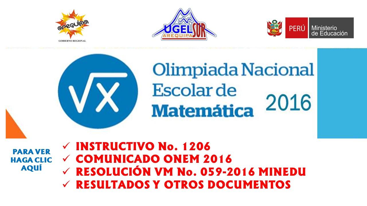 ONEM 2016