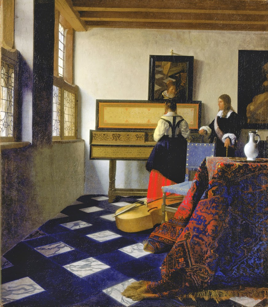 "Vermeer's ""The Music Lesson"" from Tim's Vermeer"