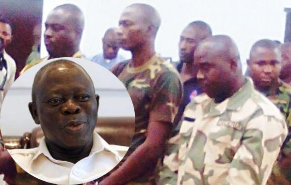 Oshiomhole Begs Buhari To Totally Pardon 66 Convicted Soldiers