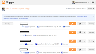 Blogger in draftdashboard